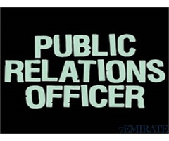 Public Relation Officer Required for Company in Ajman