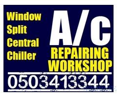 Split Ac , Central Ac , FCU Unit Service Maintenance Repairing