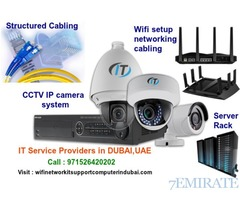 Dubai wifi, CCTV Camera,  Structured Cabling, setup, installation,repair
