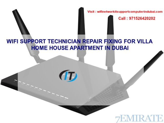 Duabi wifi router, switch,cabling, patchcode, booster installation, setup