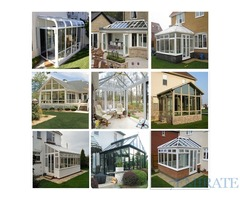 ALUMINUM GLASS AWNING SHADE STRUCTURE SYSTEM AND DOOR WINDOWS PARTITION
